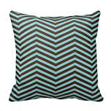 Teal Brown Bedroom Pillow Cover Decorative Pillow Case Cushion Cover