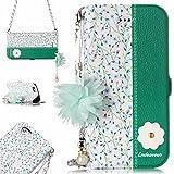 Cozy Hut iPhone 6 Plus / 6s Plus Hülle Multi-Function 2 in 1 Detachable Kette Wallet Stand Case mit Kartenfächer und Magnetverschluss Schutzhülle für iPhone 6 Plus / 6s Plus - Kirschblüten