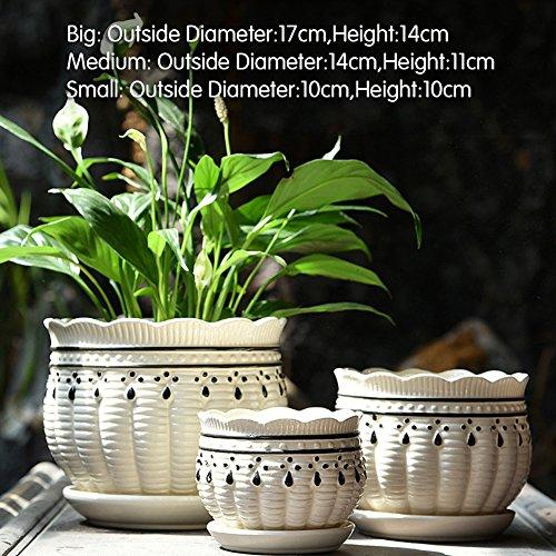 Dekorative Design Keramikplatten Pflanze Blume Pflanzer Töpfe,Die Blumentopf Und Die Fahrgestell...