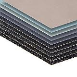 5 Blatt P3000 Körnung Schleifpapier Nass und Trocken Sandpapier 210 x 110 mm