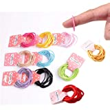 Ealicere 100 unidades de 10 colores,Lazos elásticos para el pelo, tamaño pequeño, banda de goma para coleta