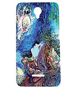 Letz Dezine Modern Art Design Printed Mobile Back Case Cover for Panasonic Eluga L2