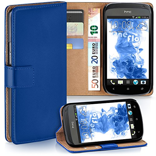 Cover OneFlow per HTC One S Custodia con scomparti documenti | Flip Case Astuccio Cover per cellulare apribile | Custodia cellulare Cover rotettiva Accessori Cellulare protezione Paraurti ROYAL-BLUE