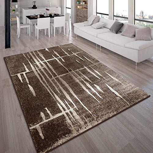Tappeto moderno di design pelo corto alla moda tappeto melange marrone beige crema, dimensione:60x100 cm