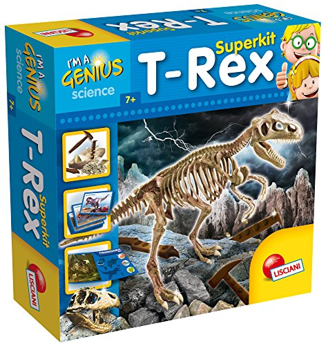 Lisciani I'm A Genius Super Kit T-Rex Niño Niño/niña - Juegos educativos (Marrón, Carbón Vegetal, Niño, Niño/niña, 7 año(s), T-Rex, Italia)