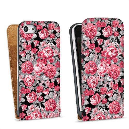 Handy Design Tasche Hülle Case Verona iPhone 5c - DesignTasche Downflip white - Apple Verona Flip Case