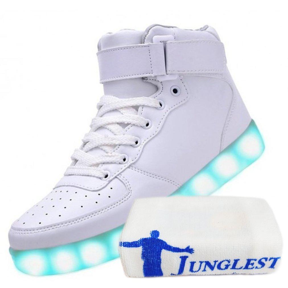 [Present:kleines Handtuch]Weiß 38 Leuchtende High Neu Light Top JUNGLEST Schuhe Led Freizeit Sport Sneakers Blinken bMpcH