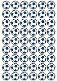 54 Aufkleber, Fußball, Sticker, 30 mm, weiß/blau, aus PVC, Folie, bedruckt, selbstklebend, EM, WM, Bundesliga