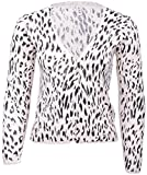Zarter LEO Leopard V-Neck CARDIGAN Strickjacke Rockabilly