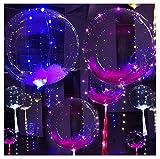 Globo De La Boda, Ularma 20 Pulgadas Luminoso LED Globo Ronda Transparente Decoración De Burbujas Fiesta De La Boda