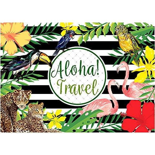 musykrafties Aloha Travel Tropical Forest Hintergrund große Banner Dekoration Luau Party Dessert Tisch Hintergrund Vintage Prop 7x 5Fuß
