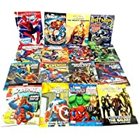 16 Pack DC & Marvel Assorted Coloring & Activity Books Spiderman Superman Avengers by Bendon Publishing