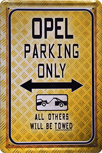 barschild-baraccessoires-opel-parking-only-blechschild-dekoschild-20x30cm-metal-sign-xps28ba