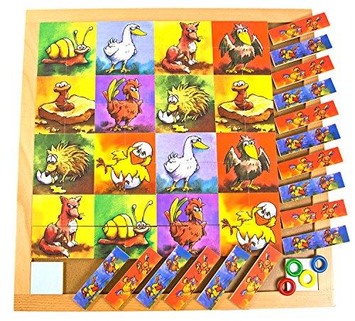 Holzspielzeug Gesellschaftsspiel Brett Spiel Schnipp Kick ab 3 Jahren Kindergarten geeignet Holz Spielzeug