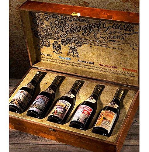 "Preisvergleich Produktbild Commemorative Collection ""Ancient Universal Expositions"" - Box with 5 bottles of Balsamic Vinegar of Modena PGI Champagnotta bottle of 250 ml"