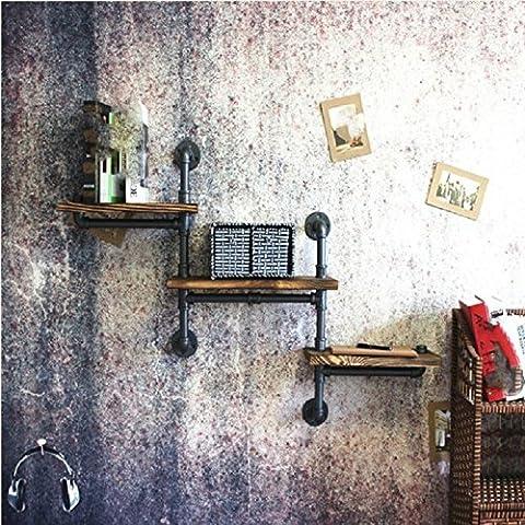 JY tuyauterie industrielle art bibliothèque fer fer art stockage cloison plateau,black,130 * 70