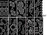 Aktion! Tattoo Schablonen 10 Sheets Set Sila zur einmaligen Verwendung für Körper auch für Glitter Tattoo und Air Brush Tattoo geeignet