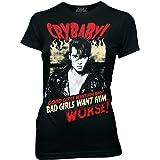 Cry Baby Bad Girls Want Him Johnny Depp Junioren Schwarz T-Shirt | M