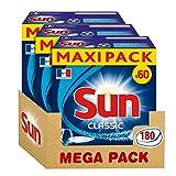 Sun Tablettes Lave-Vaisselle Classic 180 Lavages (Lot de 3x60 Lavages)