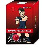 TEKXYZ Balle De Réflexe De Boxe Boxing Reflex Ball