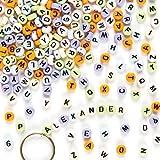 Buchstaben-Perlen - zum Basteln für Kinder - Schmuck für Armbänder und Ketten - 400 Stück