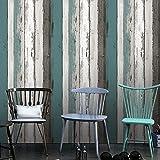 Patrón de grano de madera Panel contacto papel autoadhesivo película vinilo Peel y Stick extraíble papel pintado (23.58X 169cm)