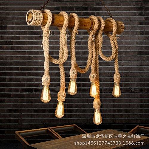 FUMIMID US-amerikanischer Country Hanf Bambus Kronleuchter kreative industrielle Retro-Caf¨¦ Bar Restaurant, Kleidung zu speichern, Bambus Lampen und 100 * 100 (mm)