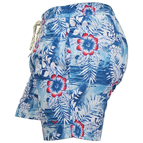 Herren Blume Hawaii Surf/Brett Badehose By Threadbare blau - smt204pka