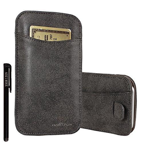 xhorizon® Modisch Luxus Scheuern Leder Tasche Haken Schleife Beutel Halfter Kreditkarteninhaber Case Hülle Präziser DesignPassen für iPhone 4 4S mit Ein Stift und Ein Reinigungstuch #6