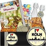 I ✿ Köln | Geschenkpaket Likör + Schnapsgläser | Geburtstagsgeschenk Köln
