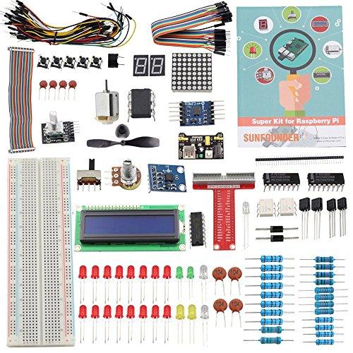Preisvergleich Produktbild Sunfounder Project Super Starter Kit for Raspberry Pi (für RPi 3/2/B+ mit Deutscher Anleitung)