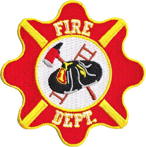 Rescue Fire Dept. Crest Patch Fleck, Officially Licensed Artwork, Iron-On / Sew-On, 3.5