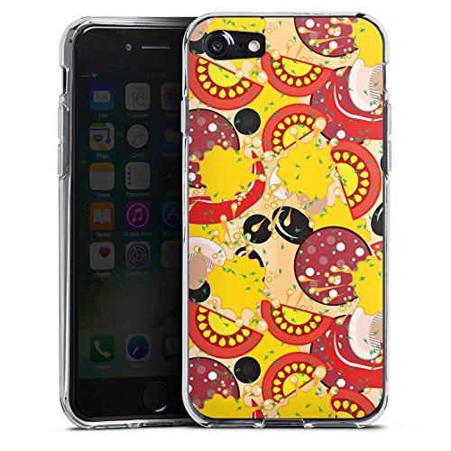 Apple iPhone 4s Silikon Hülle Case Schutzhülle Calzone Pizza Fast Food Silikon Case transparent