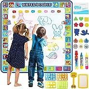 بساط رسم مائي ماجيك دودل كبير جدًا مقاس 100 × 100 سم، من توبيب. بساط تلوين مائي تعليمي ملون للأطفال الصغار وال