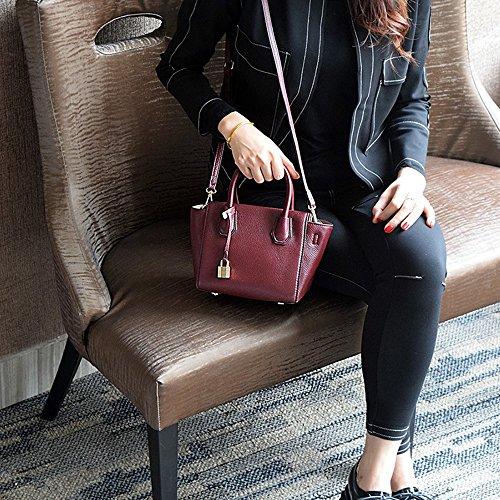 La borsa semplice della borsa della borsa di modo della borsa di modo della molla e di estate più nuova borsa borsa del messaggero ( Colore : Rosa ) Rosso