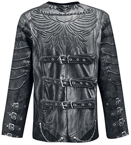 Spiral Goth Wrap Longsleeve schwarz Schwarz