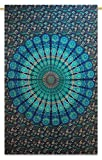 Handicrunch indische Mandala Katoen Tapisserie Wandbehang Dekor Hippie Wandteppiche 84 x 56