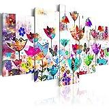 murando Quadro 200x100 cm 5 Pezzi Stampa su Tela in TNT XXL Immagini Moderni Murale Fotografia Grafica Decorazione da Parete Astratto Quadro 020101-171