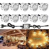 FVTLED 10er Set LED Bodeneinbaustrahler Aussen 0.6W IP67 Wasserdicht LED Lampe Boden Einbauleuchten