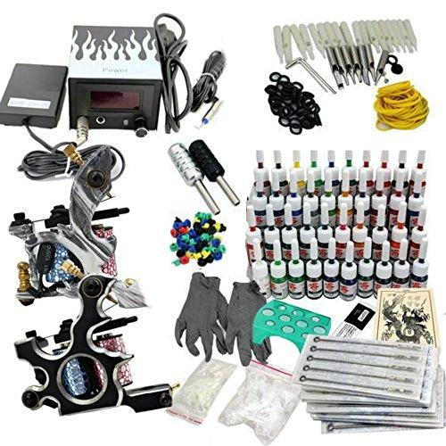 #Profi Komplett Tattoomaschine Set Tattoo kit 2 Maschine 40 Farben Tinte Nadel Tattoo maschine Set Kit#