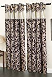 Homefab India Elegency Designer Modern 2 Piece Eyelet Polyester Window Curtain Set - 6ft, Brown