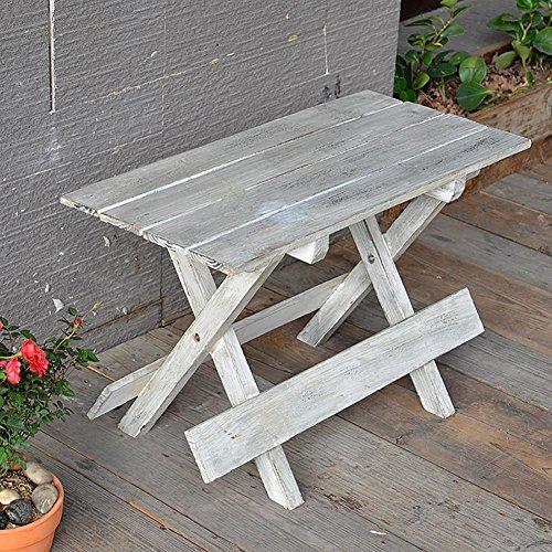 KSUNGB Klappbarer Stuhl aus Holz Chinesische Tanne Retro Ländlich Blumenstand Balkonstühle...
