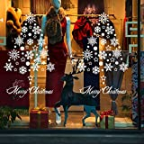 Christmas Snowflakes Floating Best Living Room Classroom Window Background Decorations Can Remove Wall Stickers,Figure