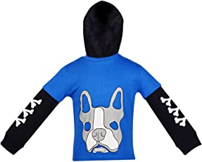 Gkidz Boys Full Sleeve Hooded Sweatshirt(WWB-003-ROYAL_Royal)