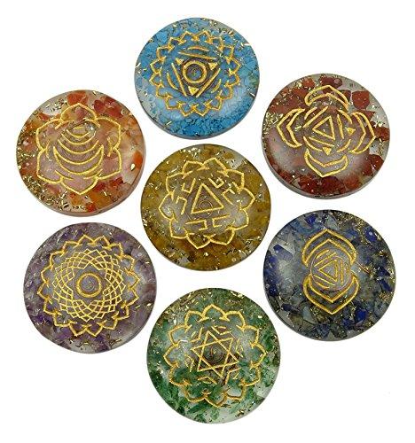 Harmonize Multistone Orgon Disc 7 Chakra Balancing-Therapie Reiki Kristall Symbol Spirituelle Geschenk-Energie-Generator