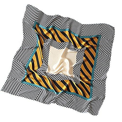 XJIH Kleines Quadrat Seidenschal Fashion Trend der koreanischen Frauen Frühling Sommer und Herbst Freizeit Beruf schal Schal Schals Taschen mit Handtücher für den Strand - Koreanischen Tasche