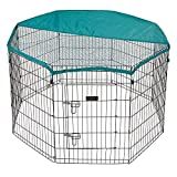 Bunty Pet Pen Large Heavy Duty Dog Run Puppy Play Whelping Cage Metal Enclosure - Medium