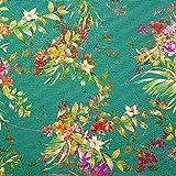 NOVELY® Papaya Velours mit Palmen und Blumen samtiger