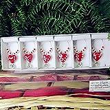 linyiming-gongyibaishe01 Scultura a Forma di Cuore in Vetro Rosso Personalizzato , Ciondolo Decorazione Statua Creativa Matrimonio Romantico Festa di Compleanno Charms in Vetro Set, Borgogna