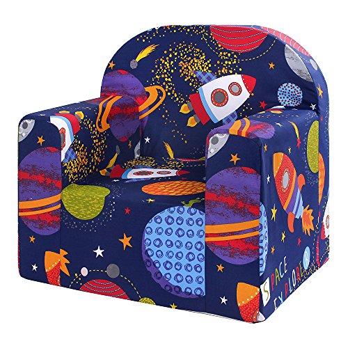 LULANDO Classic Kindersessel  Kindercouch für Spielzimmer und Kinderzimmer - in verschieden Farben und Motiven wählbar